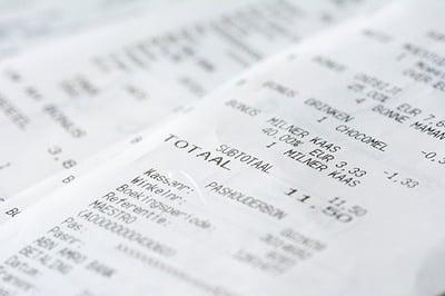 nota de gastos