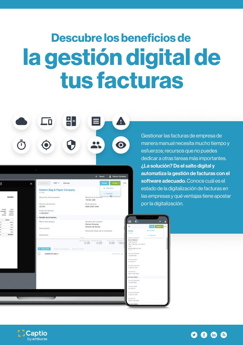 Los beneficios de la gestión digital de tus facturas - Infografía