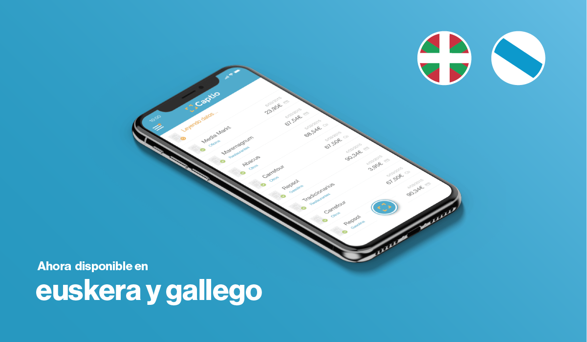 Captio, ahora disponible en euskera y gallego
