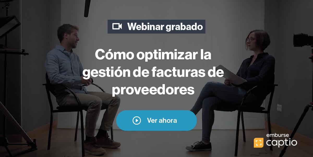 Webinar grabado: Optimiza la gestión de facturas de proveedores