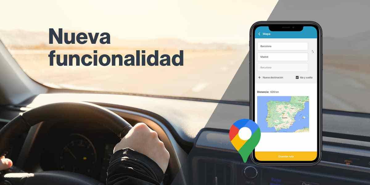 Novedad: Gestiona gastos de kilometraje con Google Maps en la App de Captio