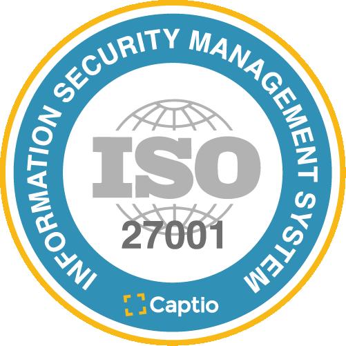Captio se certifica bajo el estándar de seguridad ISO/IEC 27001
