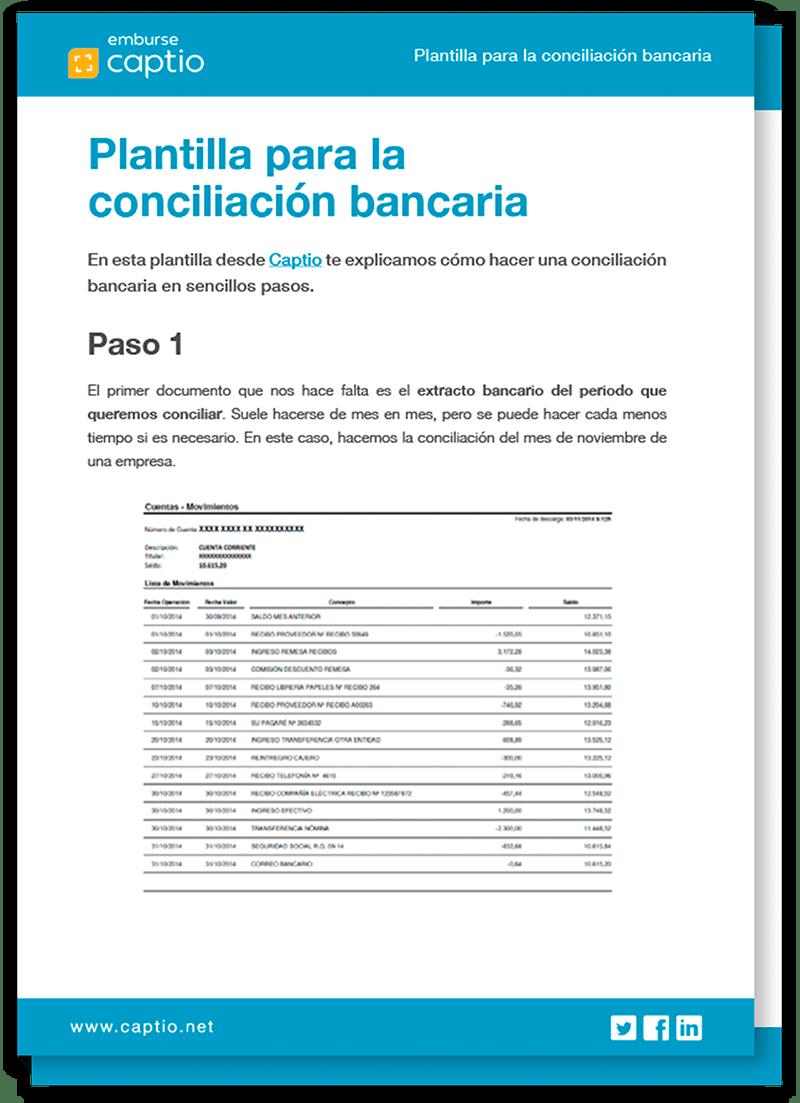 Plantilla para la conciliación bancaria - Plantillas