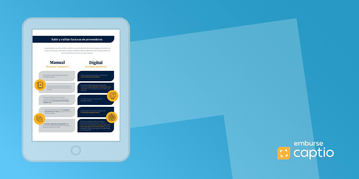 Infografía: Tabla comparativa de la gestión de facturas de proveedores: manual vs. digital