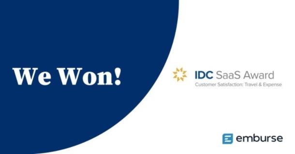 Emburse vince il premio IDC SaaS per la customer satisfaction nella gestione delle spese di viaggio