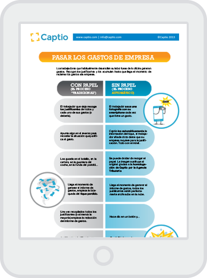 Tabla comparativa gestión de gastos: papel vs digital - Infografía