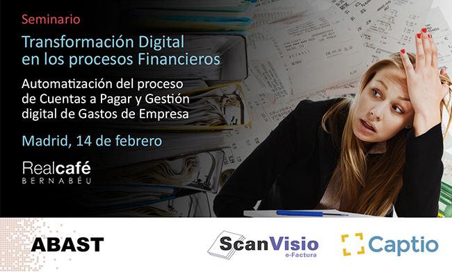 Seminario: Transformación digital en los procesos financieros